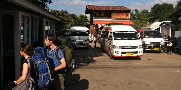 Government licensed minibuses at Pai Bus Station
