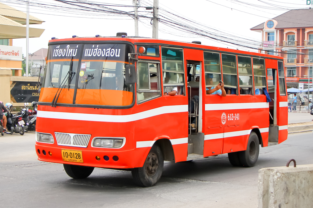 "The slow ""ordinary bus"" which runs the route Chiang Mai - Pai - Bang Mapha - Mae Hon Son"