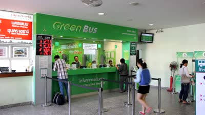 Green Bus Ticket Office at Chiang Mai Arcade Bus Station
