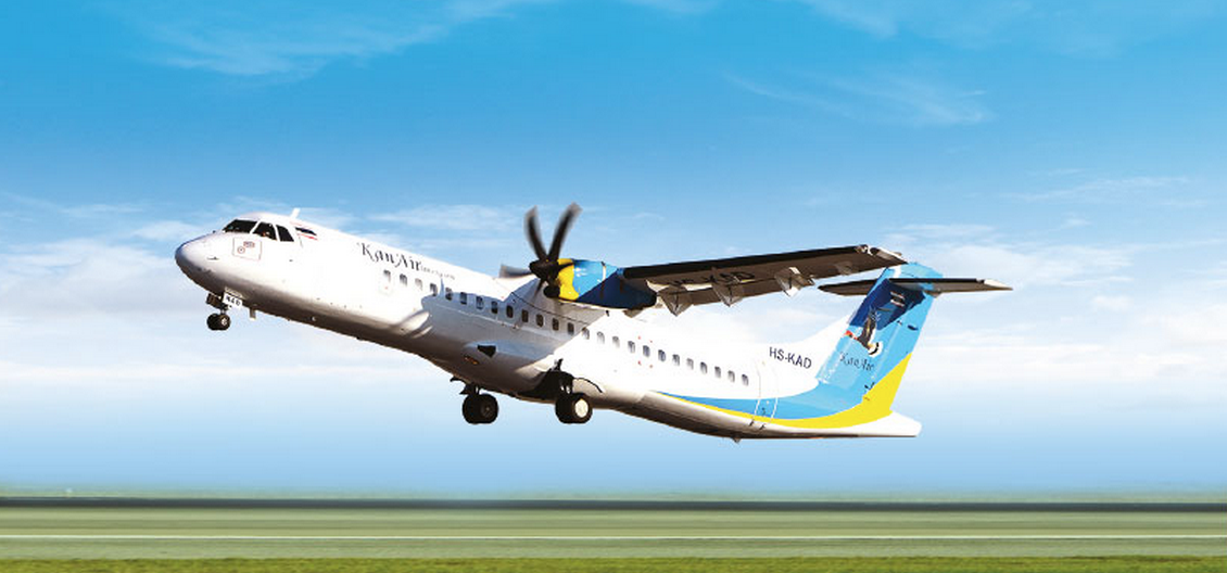 Kan Air ATR72 the largest aircraft in their fleet