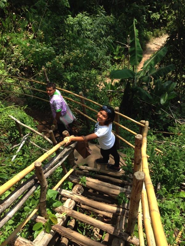 bamboo staircase Mae Klang Luang